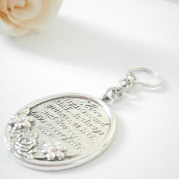Christian Keychain - Love is Patient Love is Kind - Religious Key Chain - 1 Corinthians 13 - Wedding Gift - Bible Verse Keyring