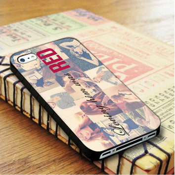 Loving Him Was Red Taylor Swift Singer Cover Album Music iPhone 4 | iPhone 4S Case