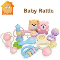 MiniTudou Toys For Newborns 12PCS Baby Rattles Teether Educational Toys For Baby 0-12 Month Stroller Parts