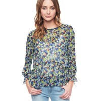 Desert Wildflowers On Georgette Top by Juicy Couture