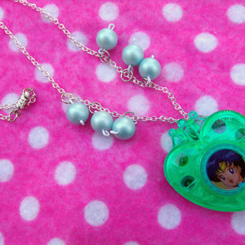 Sailor Moon Mercury Transformation Locket Necklace
