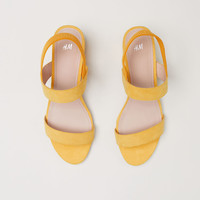 Sandals - Yellow - Ladies | H&M GB