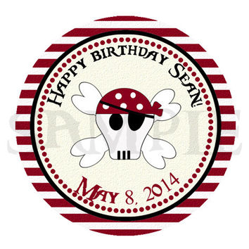 Boy Pirate sticker Cupcake Topper, Tags,. Birthdays and Baby Shower. Girl Pirate birthday, pirate printable. Digital file