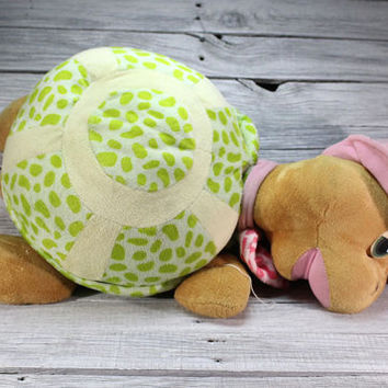 Vintage BIG Turtle Plush Toy nice present for kids children