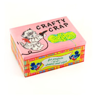 Crafty Crap Tin Cigar Box