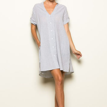 BUTTON DOWN OVERSIZE DRESS