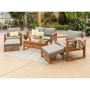 Hudson Acacia Patio Set of 6