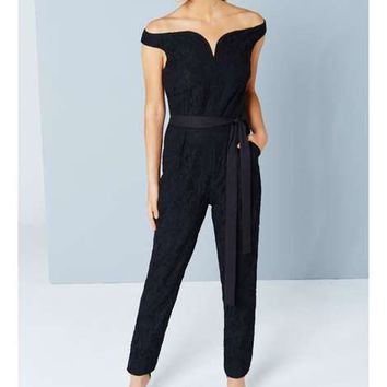 **Little Mistress Black Jumpsuit