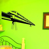 Wall Decals Vinyl Sticker Art Home Decor Design Mural Train Wall Decal Locomotive Bedroom Dorm Nursery Boy Kids Children Room Z771