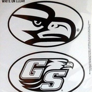 Georgia Southern Eagles 2-Pack EURO STYLE Vinyl Oval Home Auto Decals University