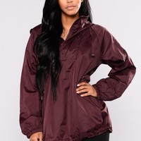 Move It Active Hoodie - Burgundy