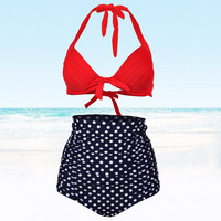 Vintage 2 Pcs Bikini Set Swimsuit