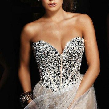 Don's Bridal 2016 New Fashion Sweetheart Neckline Above knee Length Best Selling Shiny Beaded Cocktail Dress