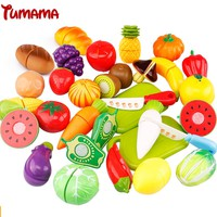 Tumama 8 Pieces/Set Play Toys for Children Food Baby Plastic Hobbies Fruit and Vegetables Cutting Toy Baby Kitchen Toys for Kids