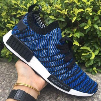 CREYNW6 Adidas NMD R1 Stlt Spring Summer 2018 Line up Blue Running Sport Shoes Camouflage Sneakers Casual Shoes
