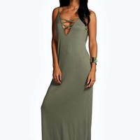 Kimberley Lace Up Maxi Dress