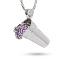 Jungl Julz Rhodium Purple Drank Necklace