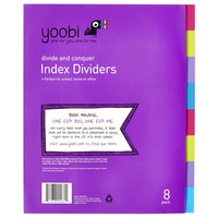 8 Tab Dividers - Pink, Purple, Green and Blue