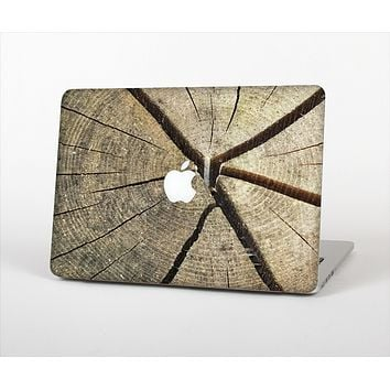 The Cracked Wooden Stump Skin Set for the Apple MacBook Pro 15""