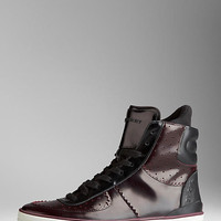 Contrast Colour High-Top Trainers