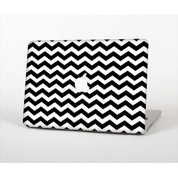 "The Black & White Chevron Pattern V2 Skin Set for the Apple MacBook Pro 15"" with Retina Display"