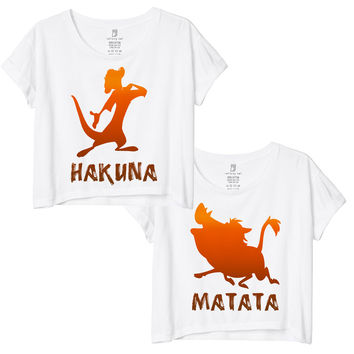 Hakuna Matata Best Friends Crop Tee