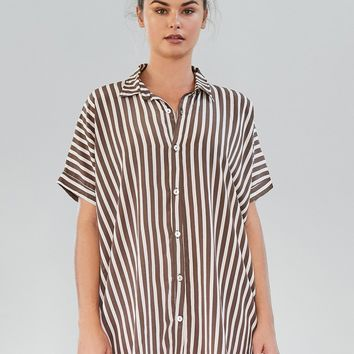 ACACIA Swimwear 2018 Mombasa Shirt Dress in Upper East Side- Small