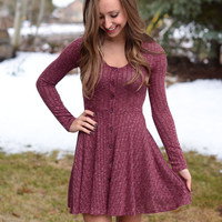 Heart Hope Dress - Burgundy