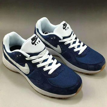 NIKE Women Men Running Roshe Sport Casual Shoes Sneakers Navy blue G-A0-HXYDXPF