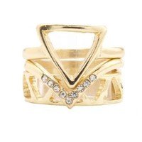 Geometric Stackable Ring Set