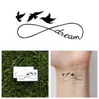 Infinity - Dream - Temporary Tattoo (Set of 2)