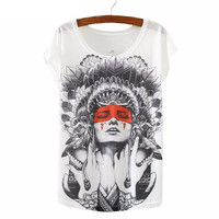 Brand New kawaii t Shirt Women harajuk Crew Neck Top Short Sleeve Indian Girls Print T-Shirt Fashion Summer Tees For Ladies