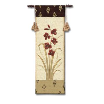 Pure Country Weavers 2103-WH Kimono Orchid Plum I Woven Wall Tapestry