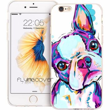 Artistic Boston Terrier Phone Case
