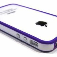Chivel (TM) Indigo White Protector Bumper Frame Case Cover for Apple Verizon At&t Sprint iPhone 4 4S