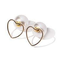 Baby Be Mine Heart Stud Earrings