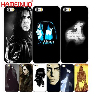 HAMEINUO alan rickman snape deer always harry potter cell phone Cover case for iphone 6 4 4s 5 5s SE 5c 6 6s 7 8 X plus