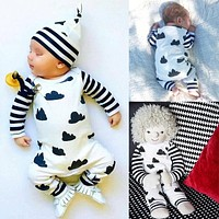 2016 Autumn Baby Rompers Boys Girls Long Sleeves Jumpsuit 100% Cotton Infant Romper Newborn Overall Kids Striped Fashion Clothes