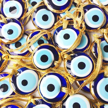 100 pcs, Wedding favors for guests, evil eye charm, gold wedding favors,