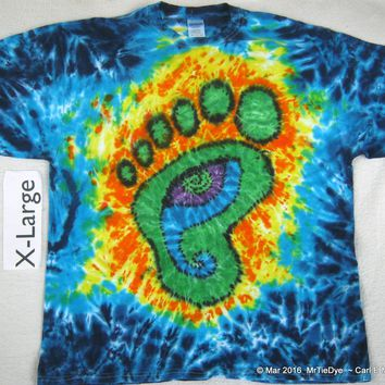 Adult XL Tie-Dye Wookie Foot with Eye Tee                                                          234