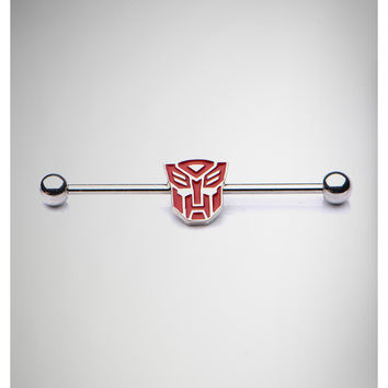 Transformers 14 Gauge Red Autobot Transformer Industrial Barbell