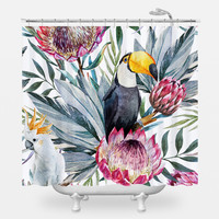 Sir Toucan Shower Curtain