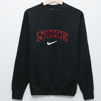 Retro Gold Nike Crew Fleece - Womens Hoodie - Black - One