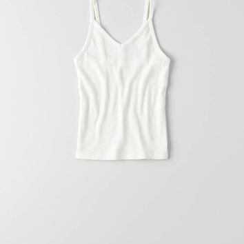 AEO First Essentials Crop Cami , White
