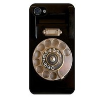 Rikki KnightTM Retro Rotary Telephone iPhone 5 Case Cover (Black Rubber with bumper protection) for Apple iPhone 5 Universal: Verizon - Sprint - AT&T-Unisex