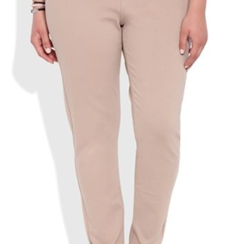 Plus Size Knit Skinny Pants with Five Pockets