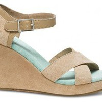TOMS+ Nude Mint Strappy Wedges
