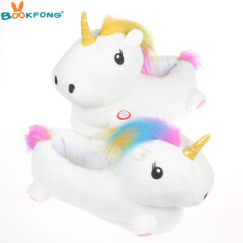 BOOKFONG 20CM Led Unicorn Plush toy Little Girl Cute House plush toys Stuffed & Plush Animals