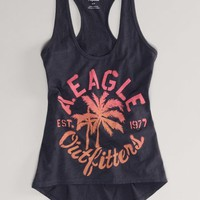 AEO Women's Signature Racerback Tank (Ebony Grey)