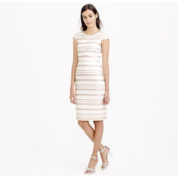 J.Crew Womens Double-Stripe Cap-Sleeve Dress
